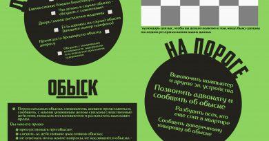 Памятка подготовки к обыскам от АЧК-Беларусь